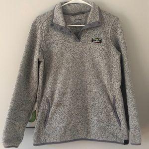 L.L. Bean   Grey polyester pullover